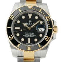 Rolex Submariner Stainless Steel / Yellow Gold Ceramic 40mm...