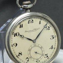 IWC Pocket Watch Vintage .900 Silver Taschenuhr Silber