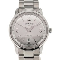 Vulcain 50s Presidents'Classic 42 Silver-toned Dial Steel