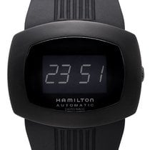 Hamilton Pulsomatic Digital Black Ion Plated Case Men's Watch