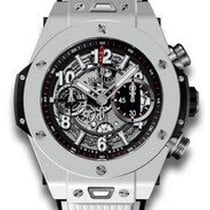 Hublot Big Bang Unico Mens 45mm Automatic in White Ceramic Case
