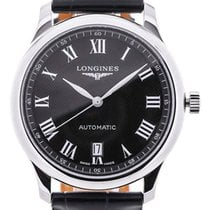 Longines Master 38.5 Date Black Guilloche Dial