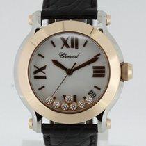 Chopard Happy Sport 18K Rose Gold Watch 278492-9001 Box &...