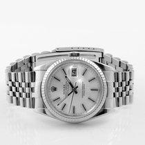Rolex Men's Datejust Steel Silver Index Fluted