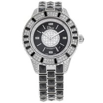 Dior Christal Ladies Diamond Black Sapphire Watch CD113513M001