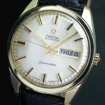 Omega Seamaster Automatic Day Quick Date Gold Cap Steel Mens...