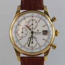 Bulova Chronograph Retro 750 Gelbgold Ca.1980