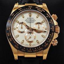 Rolex Daytona 116515 Cosmgraph 18k Rose Gold Ivory Leather...