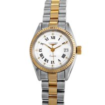 Longines Ladies Stainless steel and 18K Yellow gold Quartz...