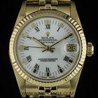 Rolex 18k Y/G White Roman Dial Mid-Size Datejust 68278