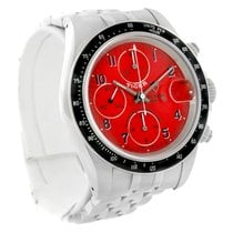 Tudor Tiger Prince Date Chronograph Steel Red Dial Watch 79260