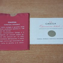 Omega vintage warranty  papers and plastic wallet