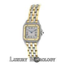 Cartier Mint Ladies Panthere 1057917C Three Row 18K Gold Steel