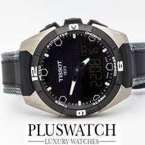 Tissot T-Touch Expert Solar Black Dial 45mm Leather Strap R