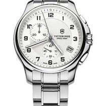 Victorinox Swiss Army Mens Officers Chronograph - Silver-Tone...