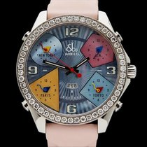 Jacob & Co. Five Time Zones Diamonds Stainless Steel...
