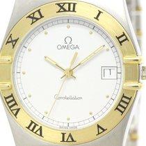 Omega Polished Omega Constellation 18k Gold Steel Quartz Watch...