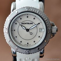 Montblanc SPORT MEDIUM MOTHER OF PEARL MOP DIAL Retail $2,570...