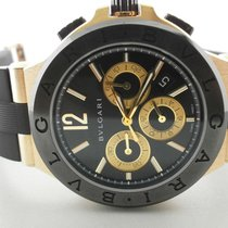 Bulgari Diagono 42mm 18k Rose & Ceramic Chronograph Dgp42gcch