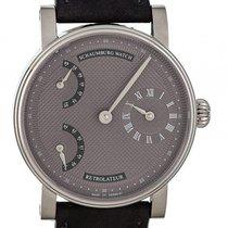 Schaumburg Watch Retrolateur Mocca Silber Handaufzug 42mm