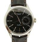 Rolex 50519 Cellini Date White Gold Black Dial