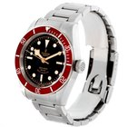 Tudor Heritage Black Bay Steel Burgundy Red Bezel Watch 79220r