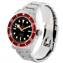 Tudor Heritage Black Bay Steel Burgundy Red Bezel Watch 79220r...