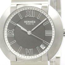 Hermès Polished Hermes Nomade Stainless Steel Auto Quartz Mens...