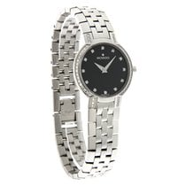 Movado Faceto Diamond Ladies Black Dial Swiss Quartz Watch...