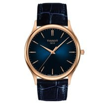 Tissot Excellence 18K Pinkgold/ Blue Leather