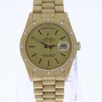 Rolex Day-Date 18K Gold Diamond Bezel 18308 Full-Set