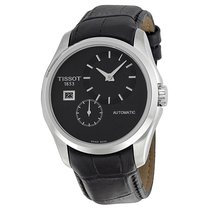 Tissot Couturier Automatic Black Dial Black Leather Men's...