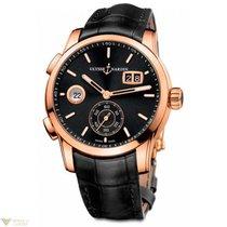 Ulysse Nardin Dual Time Manufacture Rose Gold 18K Full Black...