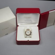 Cartier Ladies Pasha 3129  Seatimer Chrono White Rubber Box...