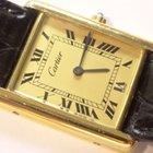 Cartier 18K Gold Vermeil Tank Watch w/ Gold Roman Dial