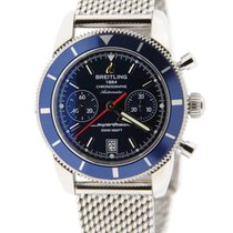 Breitling Heritage 44 Blue Chronograph Stainless Steel