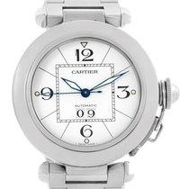 Cartier Pasha C Midsize Steel Watch White Dial Watch W31044m7