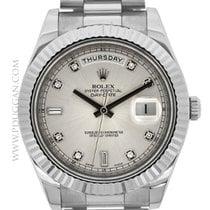 Rolex 18k white gold Day-Date II