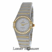 Omega Constellation 1267.75.00 Mini MOP Diamond 18K Gold Full Bar