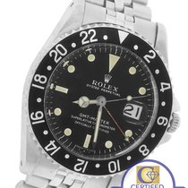 Rolex 1961 GMT-Master 1675 Black Pointed Crown Guards Cornino