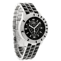Dior Christal Black Sapphire Diamond Chronograph Watch...