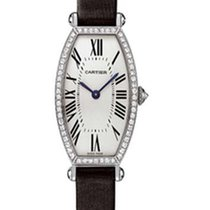 Cartier Tonneau WG Diamond Ladies 18k White Gold Watch