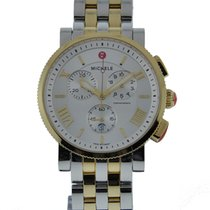 Michele Sport Sail Large Size Two Tone Stainless Steel Plated...