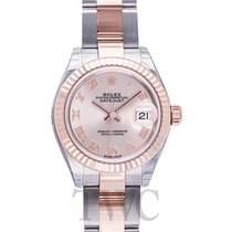 Rolex Lady Datejust 28 Sundust 18k Everose gold/Steel 28mm -...