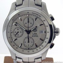 TAG Heuer Link Stainless Steel CJF211.BA0594 Silver Chrono...