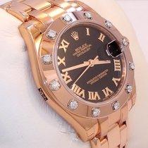 Rolex Midsize Masterpiece 18k Rose Gold 12 Fact Diamond Bezel...