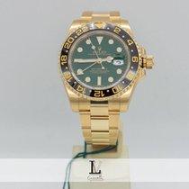 Rolex Gmt Master II Oro Gold Ref. 116718LN Green Dial