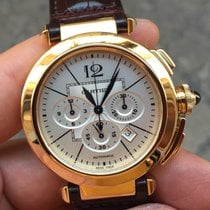 Cartier 2861 Pasha 42 Yellow Gold Chronograph Oro Full Set