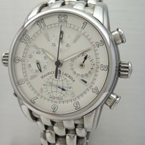 Maurice Lacroix Globe Chronograph -Stahl-Stahl, Box und...