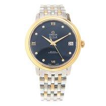 Omega De Ville 18k Gold Steel Blue 42420332053002